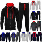NEW BOYS KIDS GIRLS CONTRAST TRACKSUIT SET FLEECE HOODIE TOP JOGGING BOTTOMS GYM
