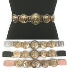 WOMEN Western Fashion ELASTIC Gold Metal Vintage WAIST HIP WIDE BELT Stretch