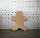 """Gingerbread Man"" Cork Memo Notice Board message home wall pinboard, 7 pins"