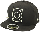 New Era 59Fifty Neon Logo Green Lantern Black Fitted Cap