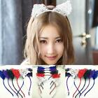 Fashion Women Girls Hair Headbands Lace Hoop Hair Cat Ears Hair Band