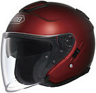 SHOEI J-CRUISE WINE RED SOLID Open Face DOT FREE SHIPPING