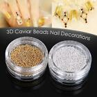 Fashion 3D 10 g Metal Caviar Beads Nail Art Gems Rhinestones Decoration US