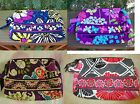 VERA BRADLEY Small Cosmetic Bag African Flutterby Plum Crazy Cheery FREE SHIP