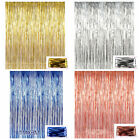 Внешний вид - 2m*1m Metallic Fringe Curtain Party Foil Tinsel Room Door Wholesale Wedding Home