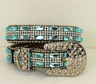 Rhinestone Bling Dog Collar Blue