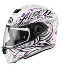 AIROH STORM POISON PINK WHITE MOTORCYCLE HELMET LADIES WOMENS