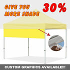 EZ Pop Up Canopy Patio Gazebo Tent Shelter Accessory-10Ft Drop Down Awning ONLY