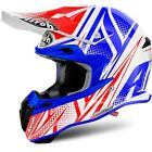 NEW Airoh 2017 Mx Terminator 2.1 Cleft White Red Blue Motocross Helmet