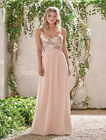 Rose Gold Bridesmaid Dress A Line Sequins Chiffon Party Maid of Honor Gown HD020