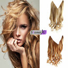 New Wavy Halo Invisible Wire Flip in Remy Human Hair Extension 100g Black Blonde