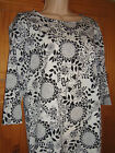 New Ex DP Dorothy Perkins Floral Shift Monochrome Tunic Dress Szs UK 8 to UK 14
