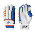 adidas Club Junior Cricket Batting Gloves White/ Blue/ Orange