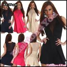 Women's Mini Dress Ladies Clubbing Party Prom Lace Dress One Size 8,10,12 UK