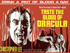 TASTE THE BLOOD OF DRACULA CHRISTOPHER LEE FILM POSTER METAL SIGN PLAQUE 1086