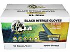 1000 LARGE BLACK NITRILE GLOVES - FULL TEXTURED - LATEX AND POWDER FREE -6 MIL