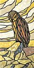 Owl Stained Glass Art Nouveau ~ Cross Stitch Pattern
