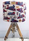 Hand Made Children's Cartoon Train Themed Lampshade
