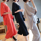 Short Sleeve Pant Suits Women's Casual Loose size Summer Fashion Long Trousers