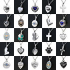 Silver Cremation Jewelry Keepsake Memorial Pendant Urn Necklace Ashes Holder