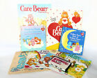 Lot of 8 Vintage 1980's CARE BEARS Books & Cassette Sticker Book Colouring Etc