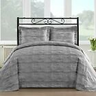 Staniey Bedding Silk Feel Cotton Blend 450 TC 3-piece Duvet Cover Set in Grey  image
