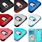 for LG ARISTO MS210 - Hybrid HARD&SOFT Rubber Dual Armor Impact Phone Case Skin