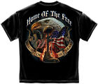 Home of the Free T-Shirt- Patriotic Graphic Tee Shirt Black image