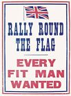 RALLY ROUND THE FLAG ARMY RECRUITMENT WAR POSTER VINTAGE METAL PLAQUE SIGN 428
