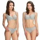 Silver Estelle Full Cup Bra & Luxury Seamless Brazilian or Brief Set by Fantasie