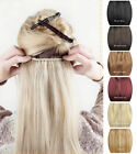 "15""-22""  5 Clips On One piece Clip in 100% Real Human Hair Extensions 80g"