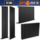 Reina Neva Steel Designer Anthracite Black Radiators - Horizontal & Vertical