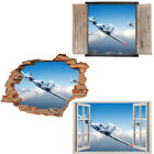 Window Wall Sticker Decal Vinyl 3D Plane Airplane home art room decor