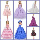 Doll Clothes Wedding Dress Evening Party Gown Accessories for Barbie Dolls S