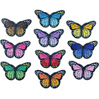 10PCS Embroidered Butterfly Patches Appliques Sew On Clothing Accessories