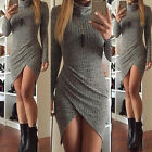 Fashion Women's Long Sleeve Bodycon Party Evening Cocktail Mini Short Dress