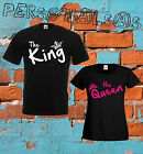 COPPIA T-SHIRT the KING his  QUEEN san valentino fidanzati marito moglie