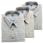Mens Shirts Brushed Woven Fabric Country Style in Mix Colours in 3 Shirt Pack