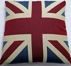 "Union Jack Tapestry Cushion Cover Vintage approx size 17"" x 17"" 43 x  43cm"