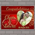 Personalised Congratulations Wedding Engagement PHOTO Poster Print Banner N150
