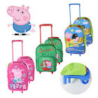 PEPPA PIG HAND LUGGAGE WHEELIE TRAVEL BAG WEEKEND OVERNIGHT SUITCASE SCHOOL CASE