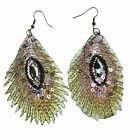 Innocent LifeStyle Peacock Feather Small Large Earings Ladies Sale 1 Pound Off
