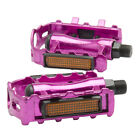"1 Pair MTB Aluminium Alloy Mountain Bike Bicycle Cycling 9/16"" Pedals Flat V5B5"