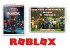LARGE A5 PERSONALISED ROBLOX BIRTHDAY CARD + WHITE ENVELOPE + cello bag !