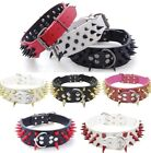 dog spike collars - RAZOR SHARP Spiked Studded Rivet PU Leather Dog Pet Puppy Collar 2