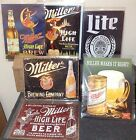 MILLER BEER HIGH LIFE BREWING LiTE Vintage Tin Sign Garage Bar Decor Old Rustic