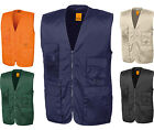 Result Mens Work Multi use Waistcoat - Tough Hardwearing Durable  - 11 Pockets