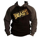 Gold Beast Stamp Charcoal Raglan Hoodie sweater bodybuilding weightlifting