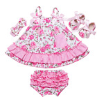 Baby Swing Top Baby Girls Clothing Set Infant Flower Ruffle Clothes Summer Sale