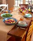 Rustic 12 Pc Dinnerware Service Set Dishes Bowls Salad Dinner Plates Melamine